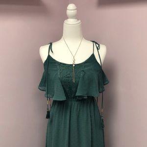 Miami Beautiful Green XS Flowy Maxi Dress